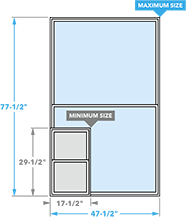 size chart image for impervia double-hung windows